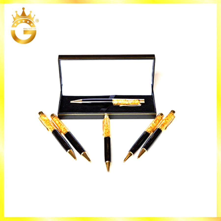 Bút ký bằng vàng lá 24k, quà tặng sếp ký hợp đồng