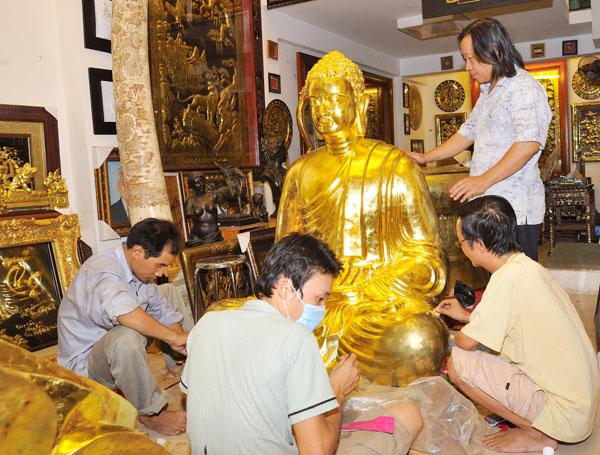 Dát vàng 999,9 cho mọi công trình, Thếp vàng King Gold Art