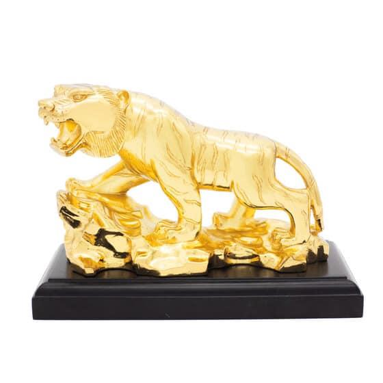 Tượng hổ mạ vàng 24k biểu tượng uy lực trong kinh doanh