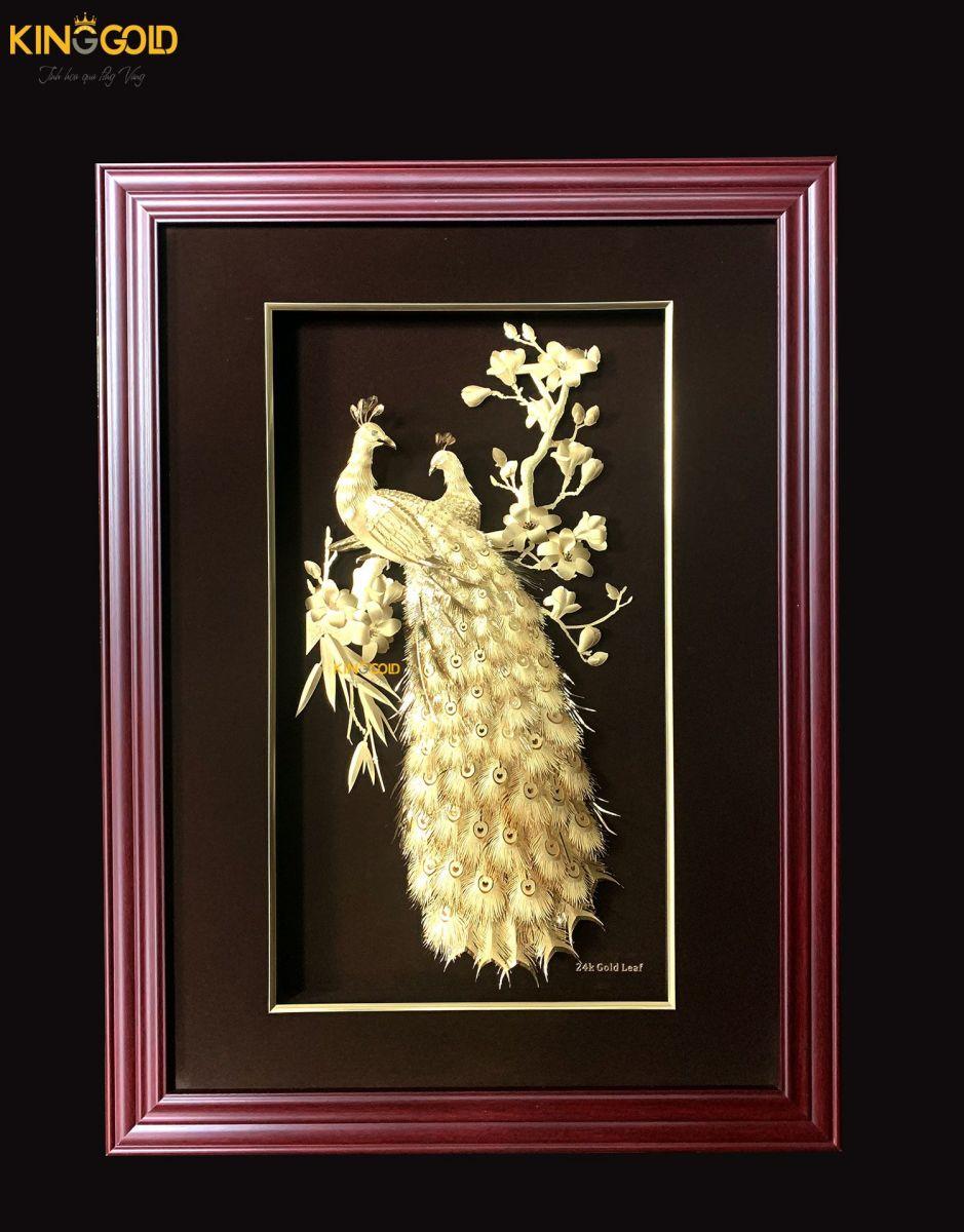 Tranh vàng quà tặng, Tranh phong thủy dát vàng 24k tại King Gold Art