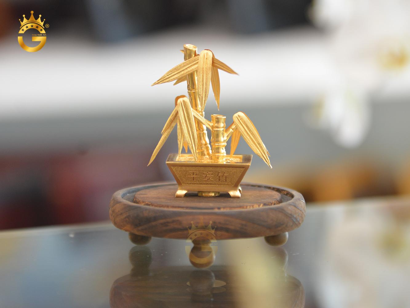 Cây trúc dát vàng 24k- quà tặng độc đáo mà sang trọng