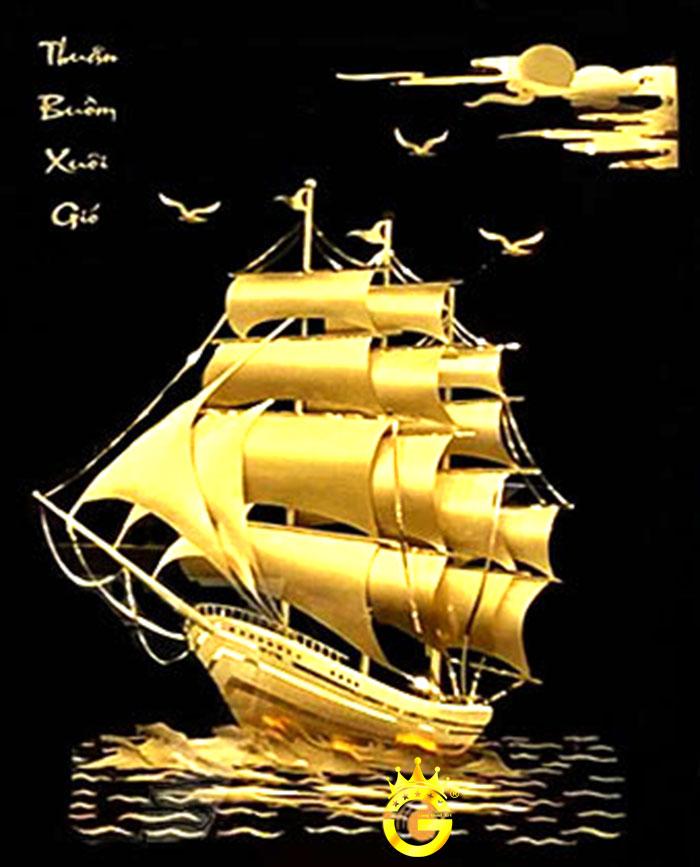 Tranh dát vàng 24k của King Gold Art gây sốt thị trường quà Việt