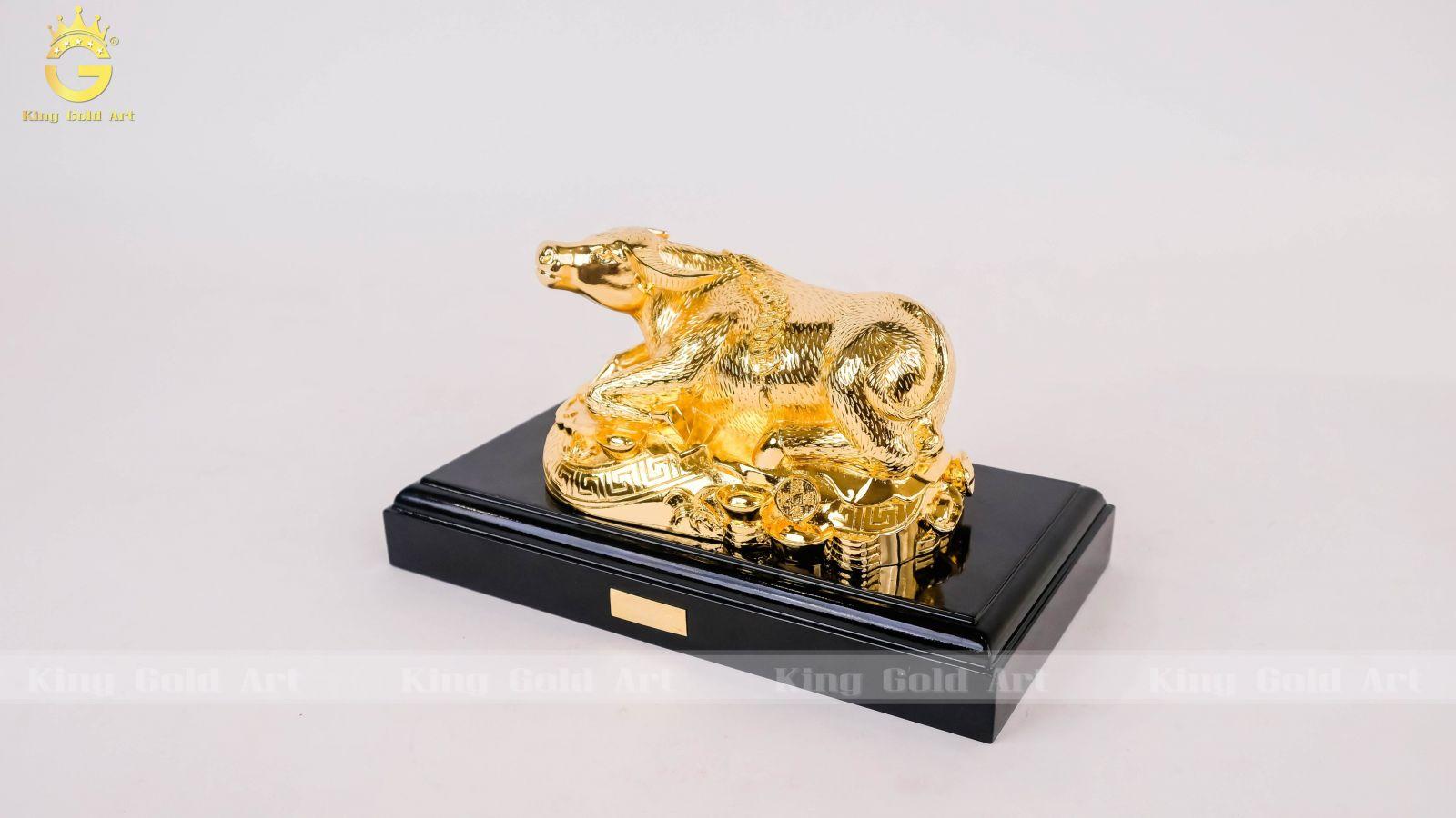 Quà tết Trâu năm mạ vàng biểu tượng no đủ, thảnh thơi