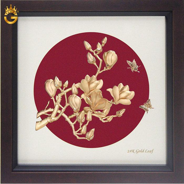 Tranh hoa lan bằng vàng 24k cao cấp làm quà tặng đẹp