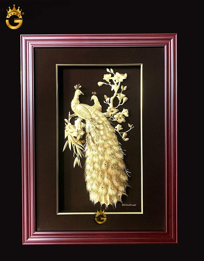 Tranh vàng Phú quý ngọc đường chế tác 3d cao cấp King Gold Art
