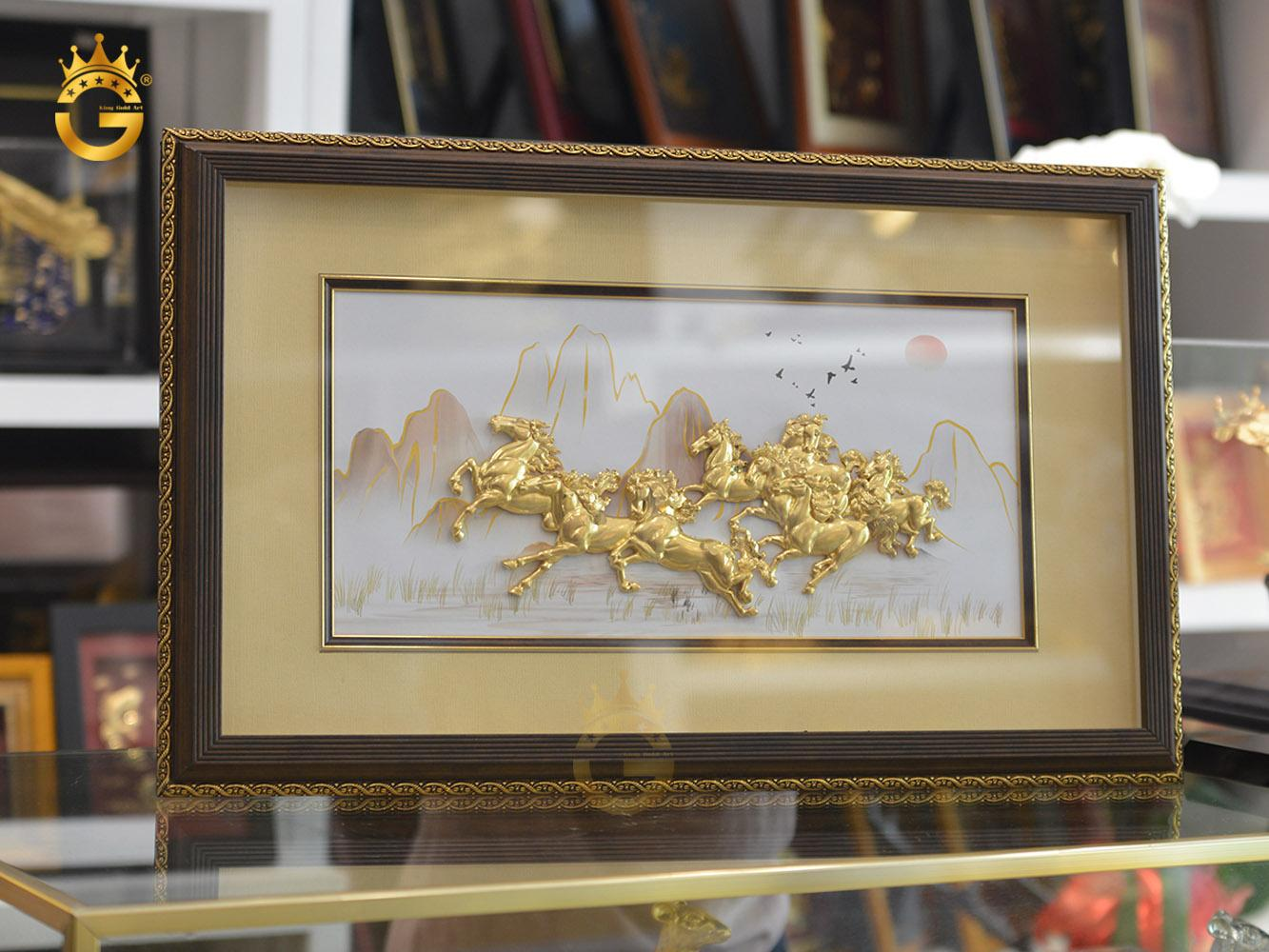 Quà tặng tranh vàng mã đáo thành công làm quà tặng khai trương ý nghĩa