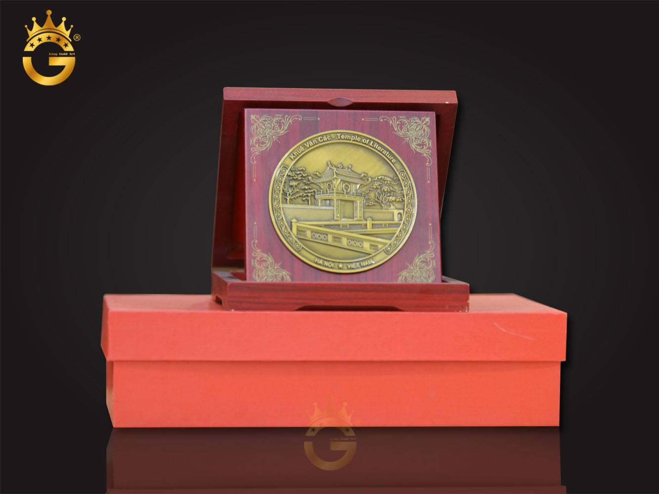 Biểu trưng gỗ đồng làm quà tặng đại hội, quà tặng sự kiện, quà tặng lưu niệm