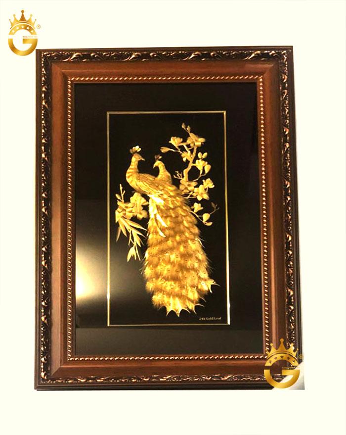 Tranh phú quý ngọc đường vàng lá 24k kt 65x95 cm