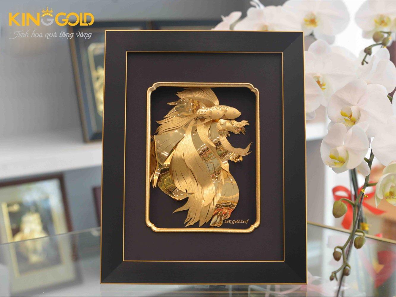 Tranh đôi cá vàng đẹp tinh xảo sản phẩm hoàn hảo Kinggold