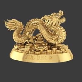 Tượng rồng mạ vàng 24K