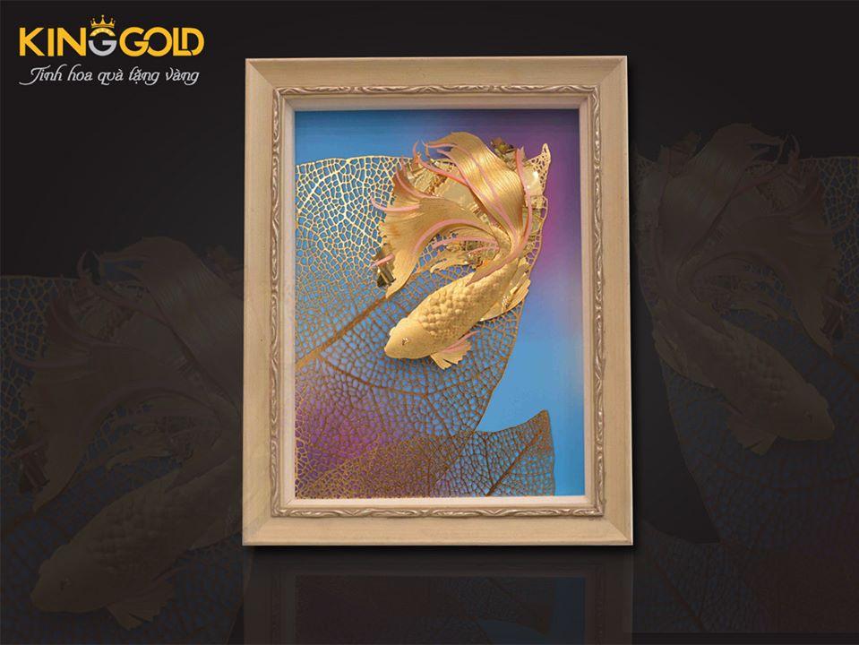 tranh đôi cá vàng