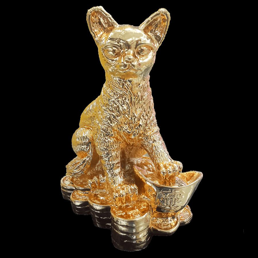 địa chỉ mua tượng mèo mạ vàng