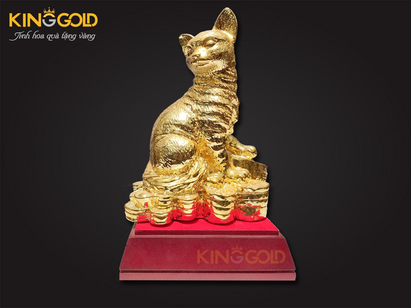 giá bán tượng mèo mạ vàng