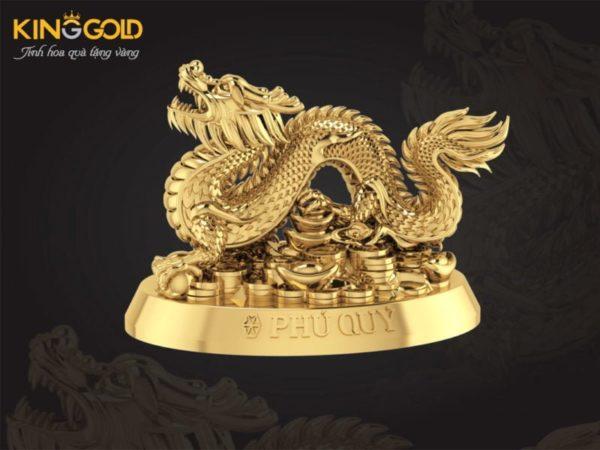Tượng rồng vàng 24k quà tặng mạ vàng