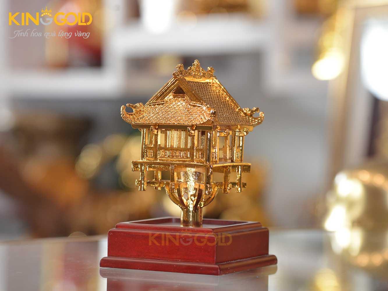 Chùa Một Cột mạ vàng 24k làm quà tặng đẹp tinh xảo