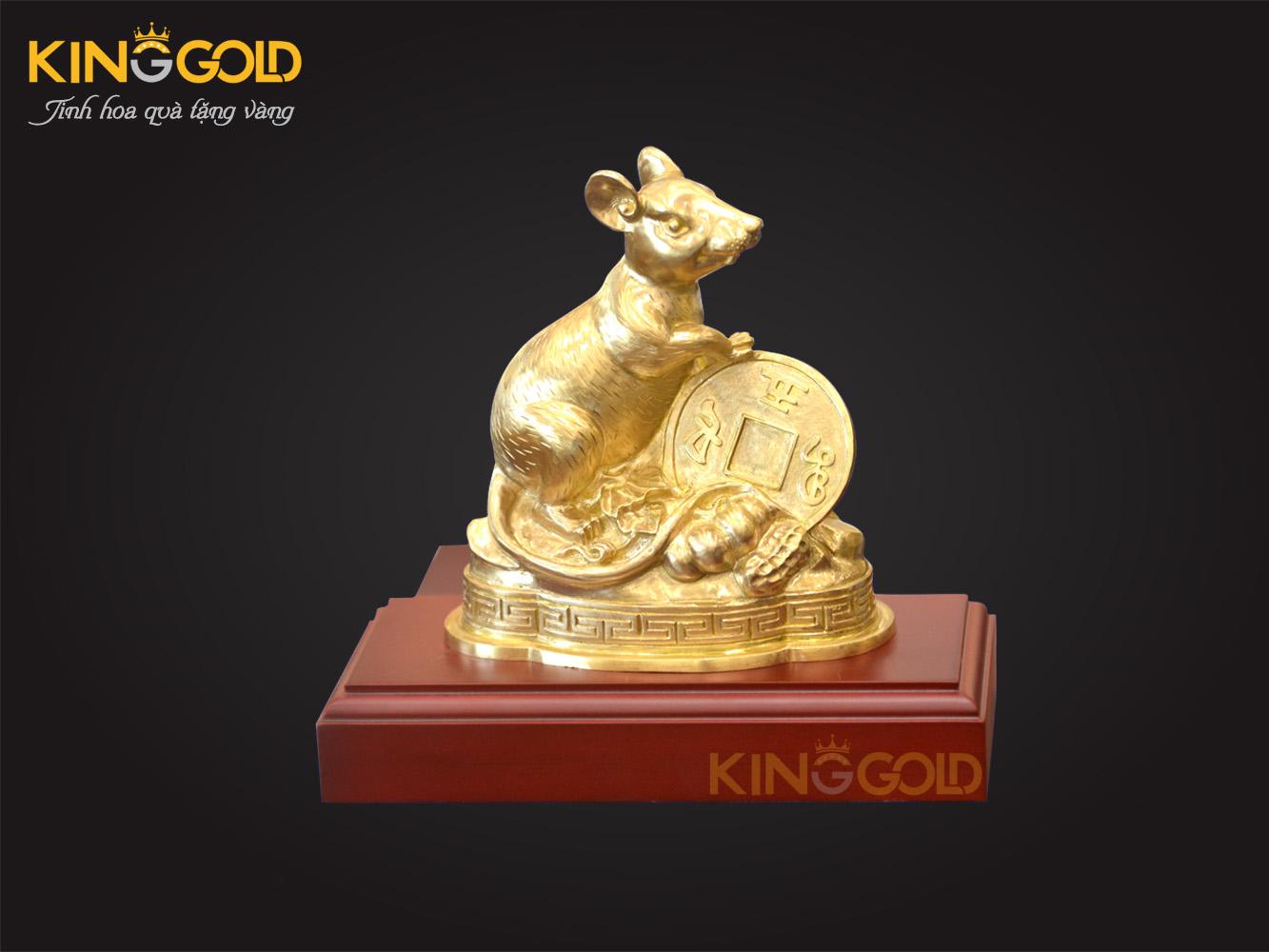 Tượng chuột dát vàng 999,9 quà tết giá trị năm 2020