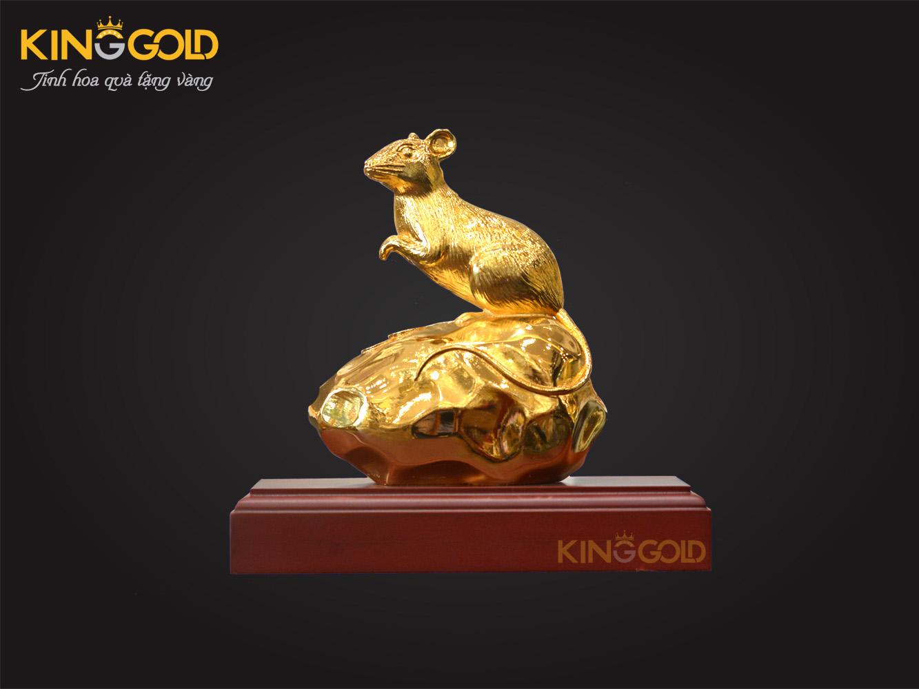 King gold ra mắt bộ tượng chuột vàng tài lộc chào năm 2020