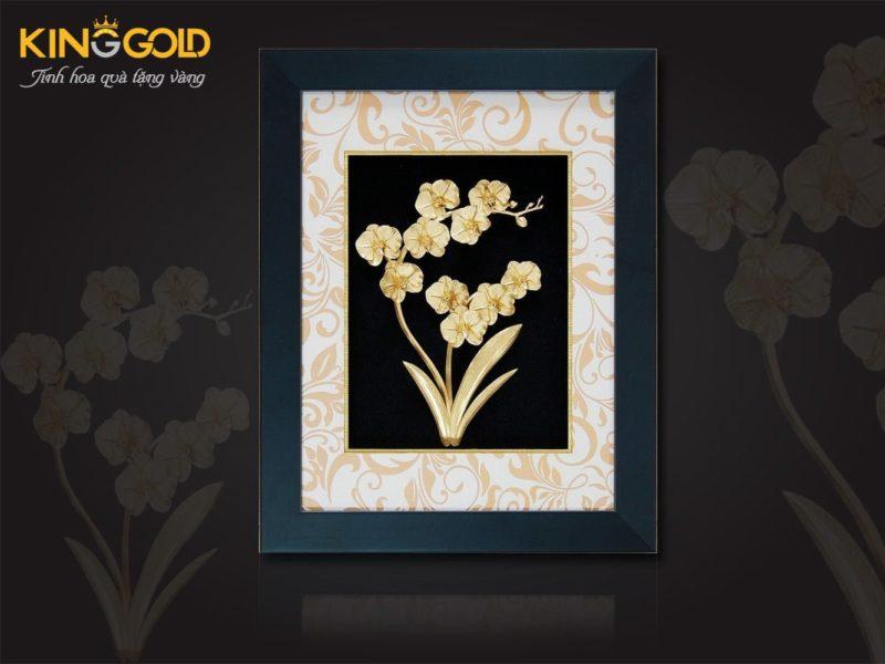 Quà tặng 20 - 11 tranh hoa mai bằng vàng lá 9999 tặng thầy cô ý nghĩa