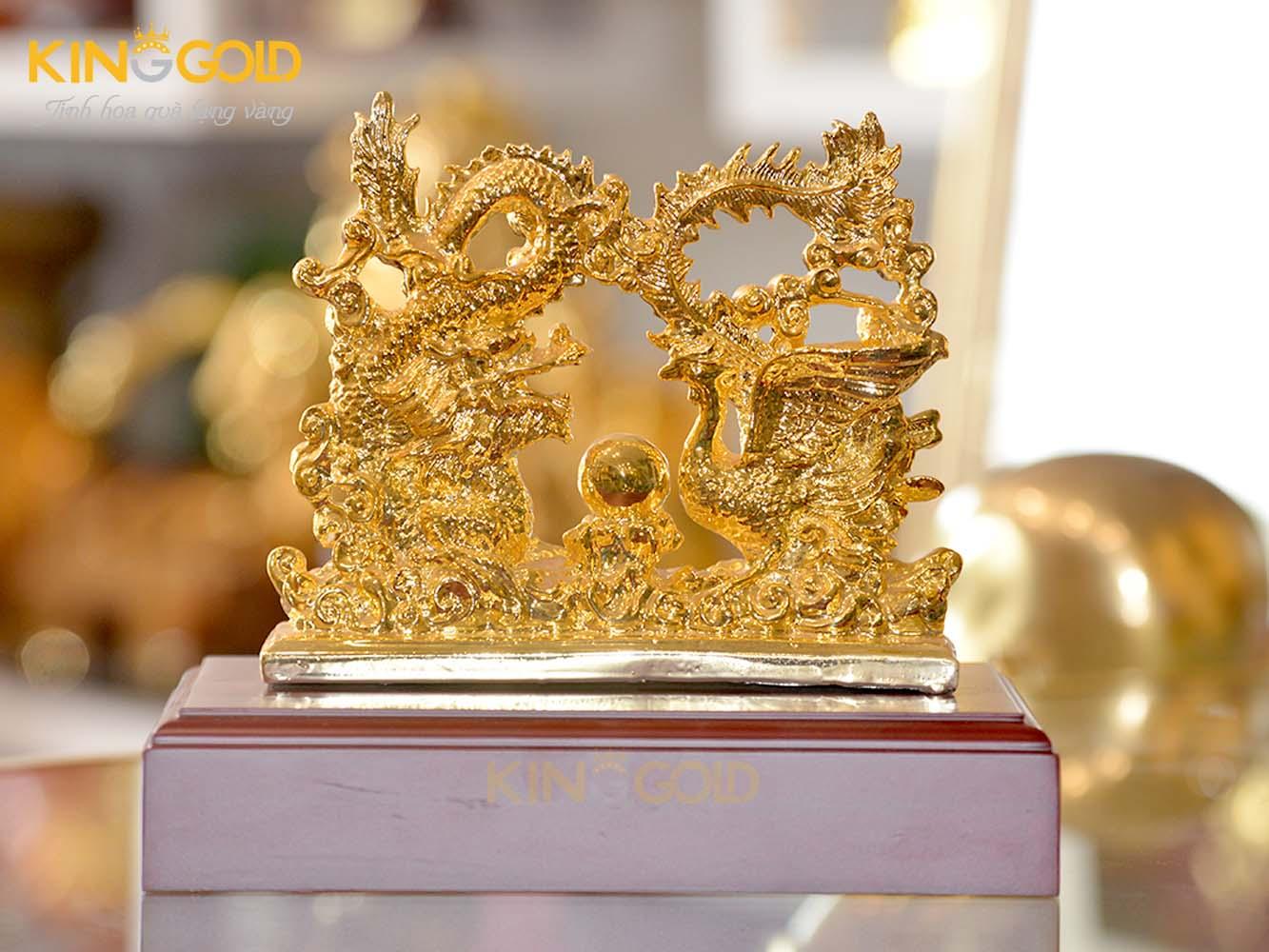 Tượng rồng phượng mạ vàng 24k
