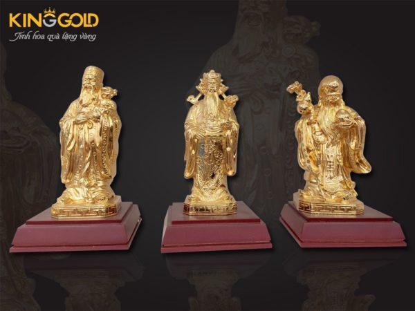 Tượng tam đa mạ vàng 24k, tượng 3 ông tam đa cỡ nhỏ