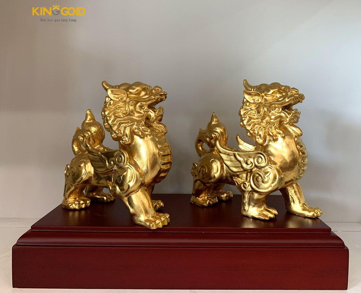 Tỳ hưu đồng dát vàng 999,9 cao cấp tại Kinggold