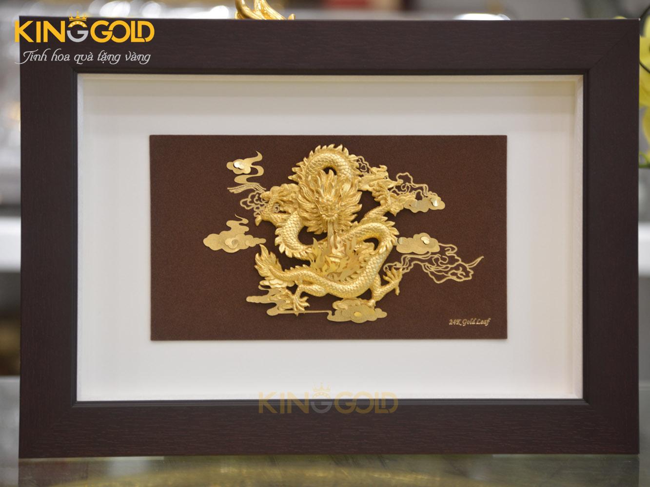 Tranh rồng bằng vàng ý nghĩa phong thủy