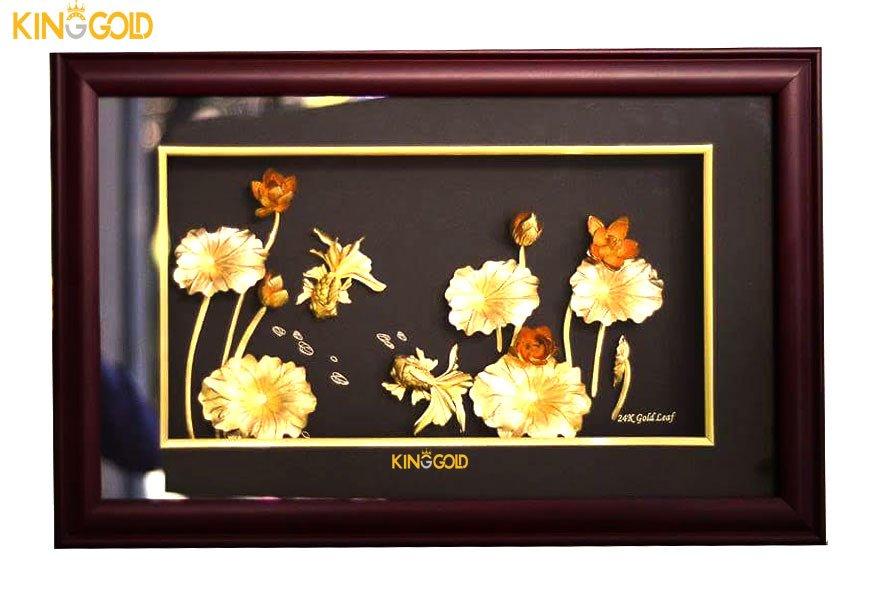 Tổng hợp các mẫu quà tặng hoa sen dát vàng king gold