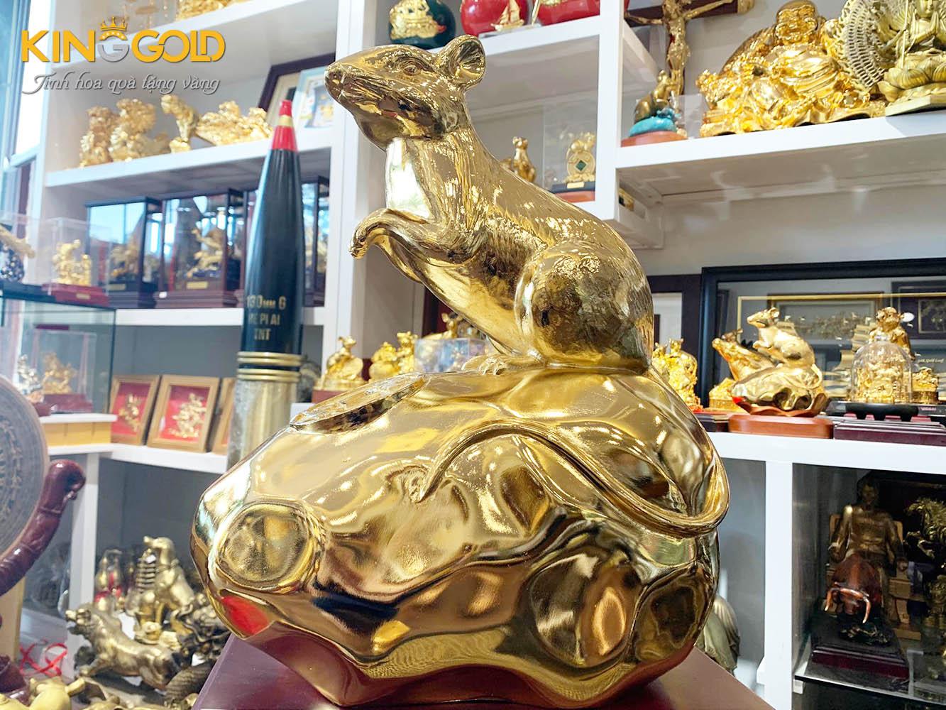 Tượng chuột vàng linh vật phong thủy năm canh tý 2020